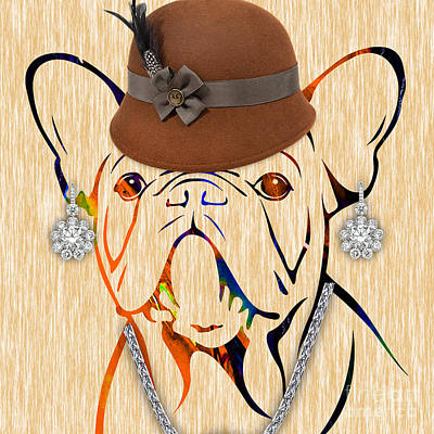 Bulldog Mixed Media - French Bulldog Collection by Marvin Blaine