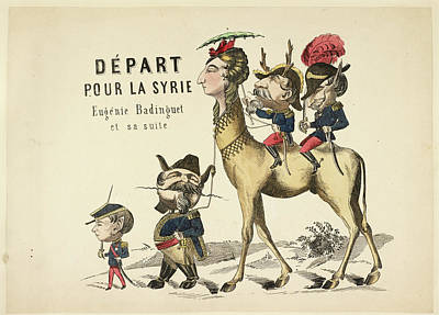 French Caricature Art Print