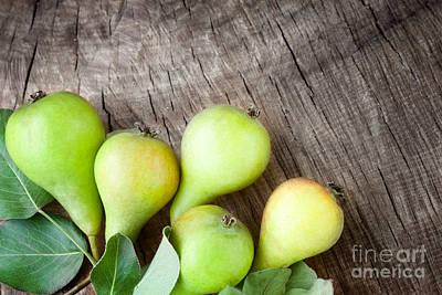 Freshly Harvested Pears Art Print by Mythja  Photography