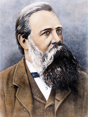 Engel Painting - Friedrich Engels (1820-1895) by Granger