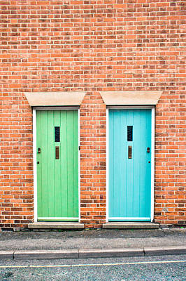 Brick Building Photograph - Front Doors by Tom Gowanlock