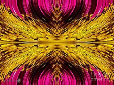 Fuchsia Sensation Abstract Art Print by J McCombie