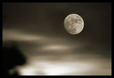 Moonlit Night Photograph - Full Moon Rising by Detlev Van Ravenswaay