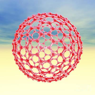 Fullerene Molecule, Artwork Art Print by Laguna Design