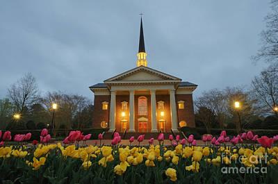 Furman Photograph - Furman University Charles Daniel Chapel   Greenville Sc by Willie Harper