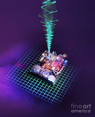 Digitally Manipulated Photograph - Future Computing, Conceptual Image by Richard Kail