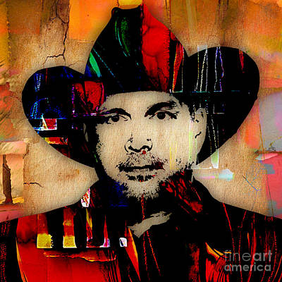 Mixed Media - Garth Brooks Collection by Marvin Blaine