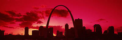 Gateway Arch Photograph - Gateway Arch With City Skyline by Panoramic Images