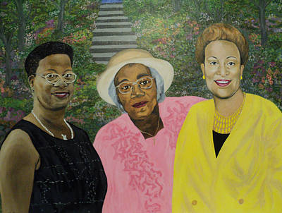 Painting - 3 Generations Of Ladies by Angelo Thomas