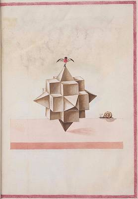 16th Century Drawing - Geometric Perspective 16th Century Anonymous Paper Manuscript by Celestial Images