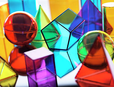 Bright Colours Photograph - Geometric Shapes by Tek Image