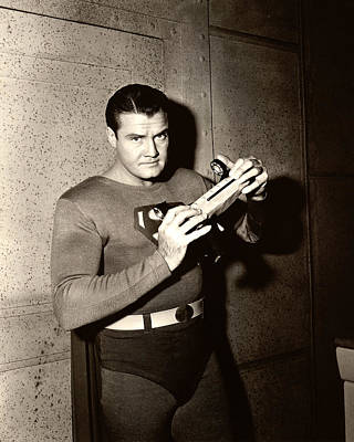 Superman Photograph - George Reeves In Adventures Of Superman  by Silver Screen