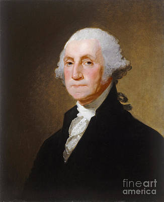 Shirt Painting - George Washington by Gilbert Stuart