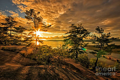 Photograph - Georgian Bay Sunset by Charline Xia