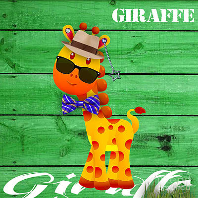 Mixed Media - Georgie Giraffe Collection by Marvin Blaine