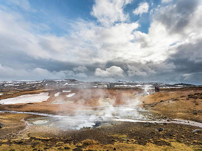 Hot Creek Photograph - Geothermal Area Seltun Heated by Martin Zwick