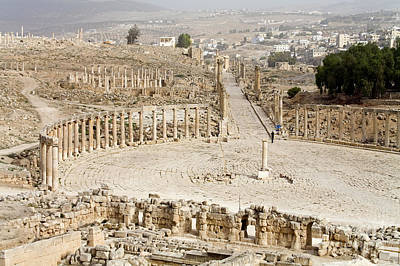 Zeus Photograph - Gerasa, Jordan by Adam Sylvester