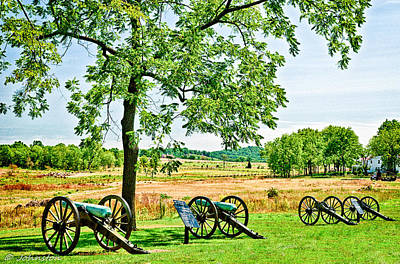 Photograph - Gettysburg Battleground by Bob and Nadine Johnston