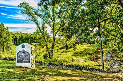 Lincoln Memorial Digital Art - Gettysburg Battleground by Bob and Nadine Johnston