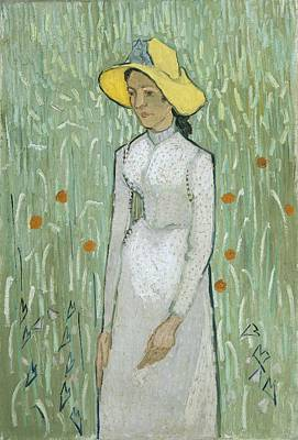 Sadness Painting - Girl In White by Vincent van Gogh