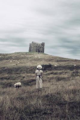 Refugee Girl Photograph - Girl With Sheeps by Joana Kruse