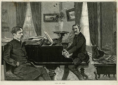 Verdi Wall Art - Drawing - Giuseppe Verdi  The Italian Opera by Mary Evans Picture Library