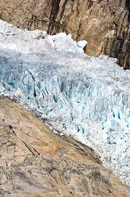 Amazement Photograph - Glacier, Prince Christian Sound by Daisy Gilardini