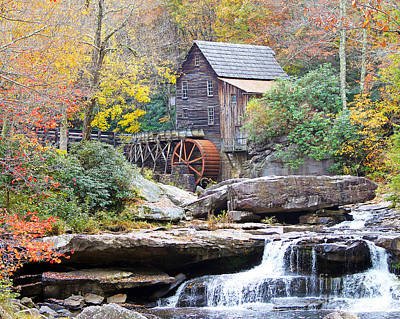 Glade Creek Grist Mill Art Print by Jack Schultz