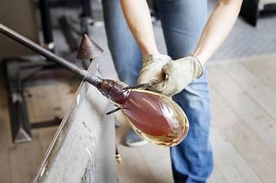Glassblower At Work Art Print
