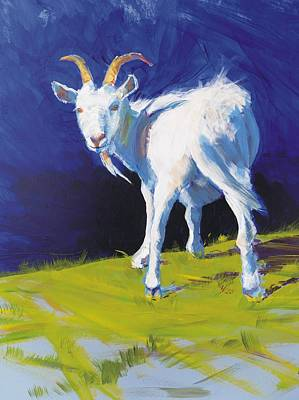 Goat Painting - Goat by Mike Jory