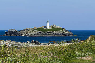 Photograph - Godrevy Lighthouse by Brian Roscorla