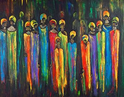 Gogo And The Ancestors Original by Marietjie Henning