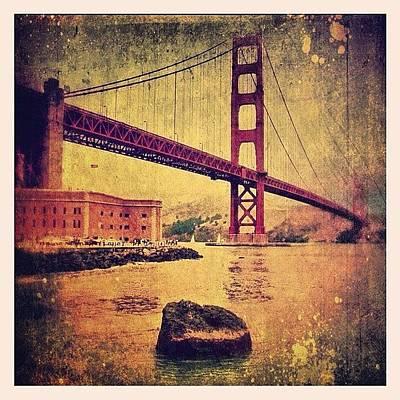 Icon Photograph - Golden Gate Bridge by Jill Battaglia