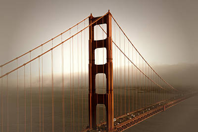 Sepia Photograph - Lovely Golden Gate Bridge by Melanie Viola
