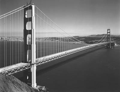 Construction Photograph - Golden Gate Bridge by Underwood Archives