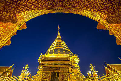 Golden Pagoda Art Print by Anek Suwannaphoom