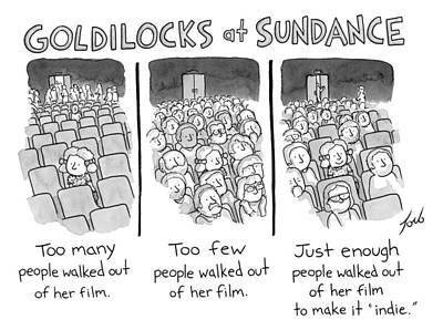 Audience Drawing - Goldilocks At Sundance by Tom Toro