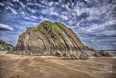 Photograph - Goscar Rock Tenby by Steve Purnell