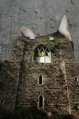 Gothic Kitty Art Print