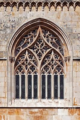 Monastery Photograph - Gothic Stain-glass Window by Jose Elias - Sofia Pereira