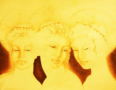 Painting - 3 Graces by Giorgio Tuscani