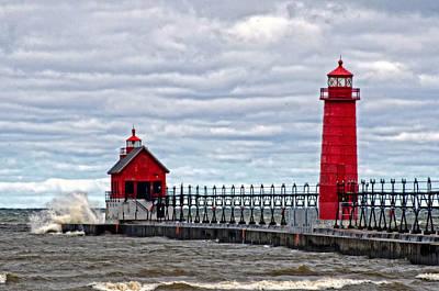 Grand Haven Lighthouse Art Print by Cheryl Cencich