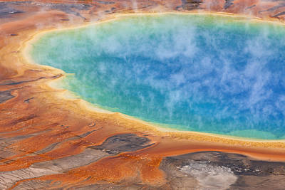 Grand Prismatic Pool Yellowstone Np Art Print