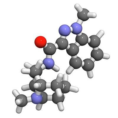 Granisetron Nausea Drug Molecule Art Print by Molekuul