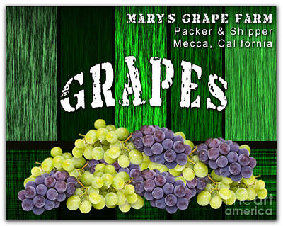 Grape Farm Art Print
