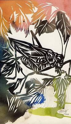 Grasshopper Mixed Media - Grasshopper by Alfred Ng