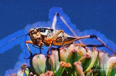 Grasshopper Painting - Grasshopper by George Atsametakis