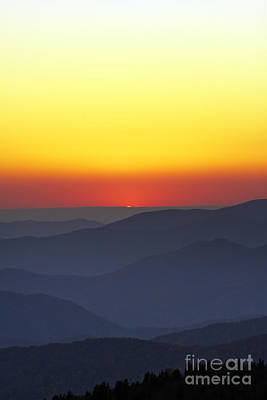 Great Smokie Mountains National Park Sunset Art Print by Dustin K Ryan