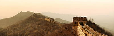 Photograph - Great Wall Sunset Panorama by Songquan Deng