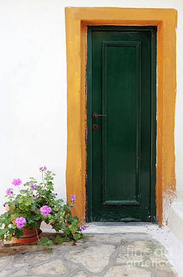 Entrance Door Photograph - Greek Door by Neil Overy